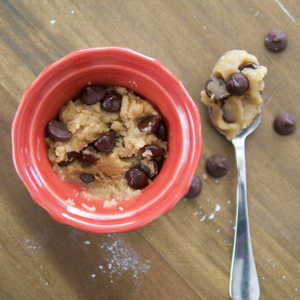 Chocolate Chip Cookie Dough for One Image