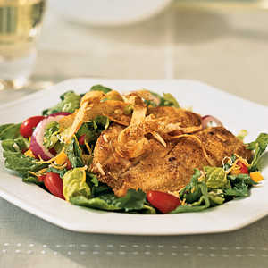 Cornmeal-Crusted Tilapia Salad Recipe