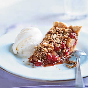 Pear-Cranberry Pie with Oatmeal Streusel Recipe