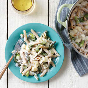 Creamy Asparagus and Hearts of Palm Pasta Recipe