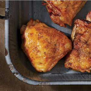 Crispy Salt-and-Pepper Grilled Chicken ThighsRecipe
