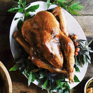 Dry-Cured Roasted Turkey with Herb ButterRecipe