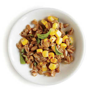 Farro Salad with Basil and Corn Recipe