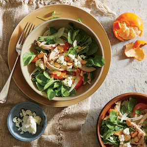 Fennel and Clementine Salad with Chicken, Almonds, and FetaRecipe