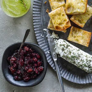 Five-Spice Cranberry Relish with Goat Cheese Recipe