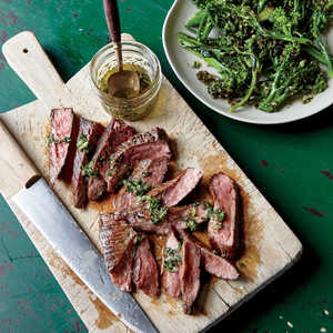 Flank Steak with Herb Dressing and Charred BroccoliniRecipe