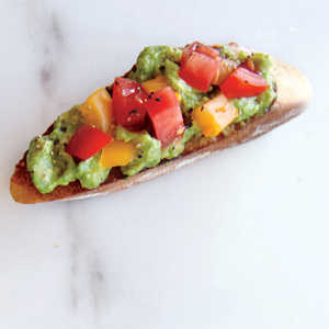 Garlic, Avocado, and Tomato ToastRecipe