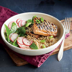 Glazed Salmon and Rice BowlRecipe