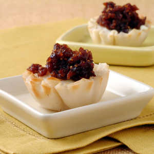 Goat Cheese Tarts with Lemon-Fig CompoteRecipe