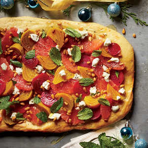 Grapefruit-Beet-Goat Cheese FlatbreadRecipe