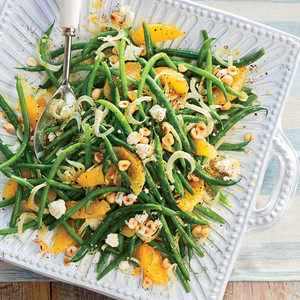 Green Bean, Orange, and Fennel Salad with Hazelnuts and Goat CheeseRecipe