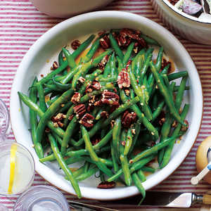 Green Beans with Pecans and Maple VinaigretteRecipe