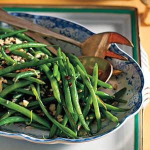 Green Beans with Shallots and HazelnutsRecipe
