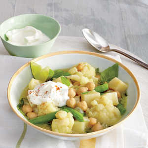Green Curry Stew with Potatoes and CauliflowerRecipe