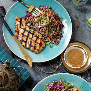 Grilled Chicken and Soba Noodles with Miso VinaigretteRecipe