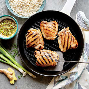 Grilled Chicken Thighs with Ginger SauceRecipe