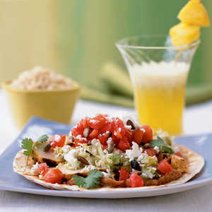 <p>Grilled Chicken Tostadas</p>