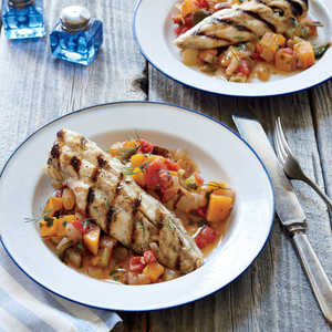 Grilled Dogfish on Late-Summer Caponata Recipe