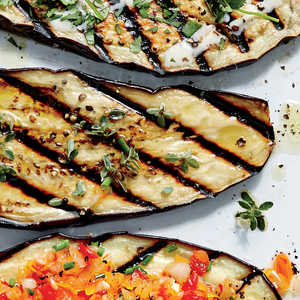 Grilled Eggplant Planks with Sherry VinaigretteRecipe