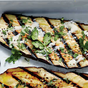 Grilled Eggplant Planks with Miso AioliRecipe