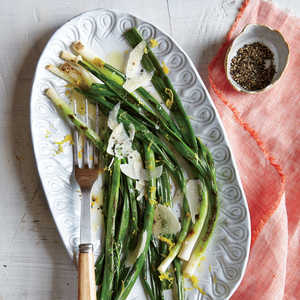 Grilled Green Onions with Lemon and ParmesanRecipe