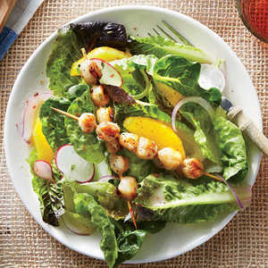 Grilled Scallop Salad with Citrus Vinaigrette Recipe