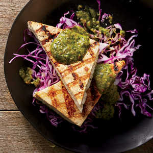 Grilled Tofu With Spicy Peanut Sauce Recipe