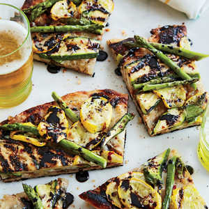 Grilled Vegetable Pizza with Balsamic ReductionRecipe