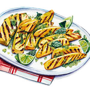 Grilled Pineapple with Mint SugarRecipe