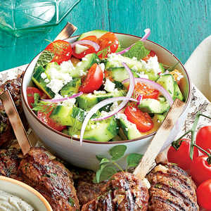 Herbed Cucumber-and-Tomato Salad Recipe