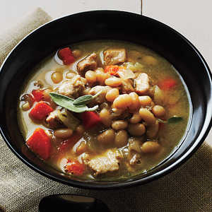 Pork and Herbed White BeansRecipe