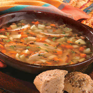 Fall Vegetable Soup Black Eyed Peas Grilled ChickenRecipe