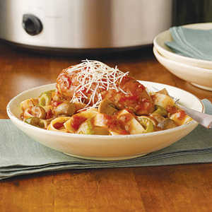 Swanson® Slow-Cooker Chicken Cacciatore Recipe