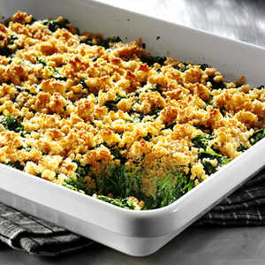 Crunchy-Topped Savory Spinach Casserole