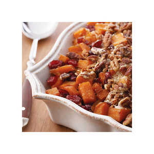 Roasted Sweet Potatoes with Cinnamon Pecan Crunch Recipes Recipe