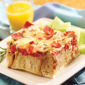 Strata with Breakfast Strips Recipe