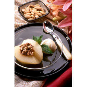 Almond Board Baked Pears Stuffed with Almonds RecipesRecipe