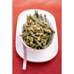 Almond Board Roasted Green Beans with Almond Brittle RecipesRecipe