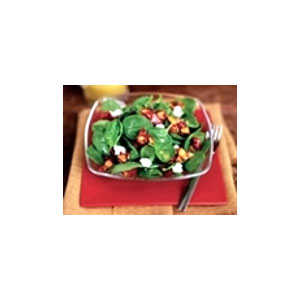 Almond Board Spinach Salad with Candied Almonds & Lemon Vinaigrette Recipes Recipe