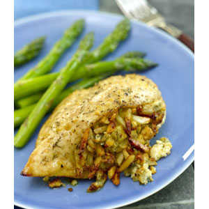 Almond Board Stuffed Chicken Breasts with Apples, Almonds and Blue Cheese RecipesRecipe