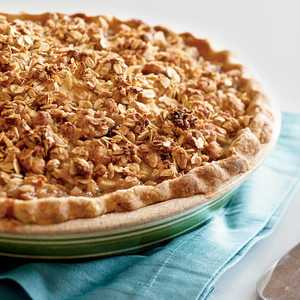 Gingery Cranberry-Pear Pie with Oatmeal StreuselRecipe