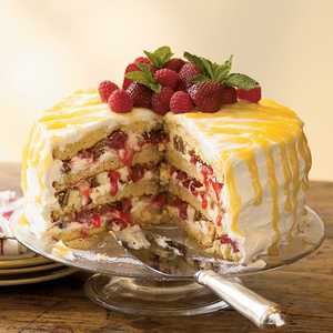 Cheesecake-Stuffed Luscious Lemon CakeRecipe
