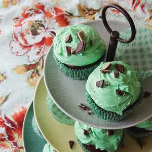 Mint Chocolate Chip CupcakesRecipe