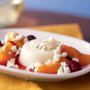 Panna Cotta with Vermont Blue Cheese and Roasted Stone FruitRecipe