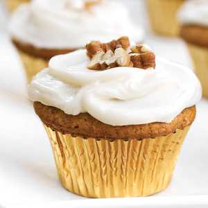 Sweet Potato-Pecan Cupcakes With Cream Cheese Frosting Recipe