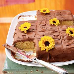 Yellow Sheet Cake with Chocolate FrostingRecipe