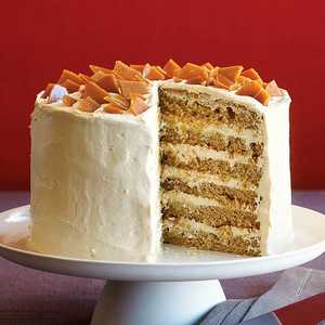 Spice Cake with Coffee Toffee CrunchRecipe