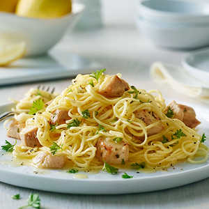 Angel Hair Pasta with Lemon and Chicken (Lighter)Recipe