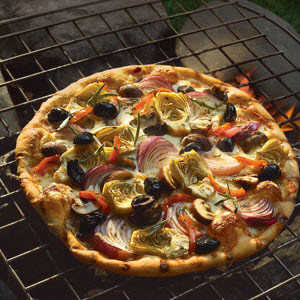 Grilled Vegetable Pizza from Crisco® 100% Extra Virgin Olive OilRecipe
