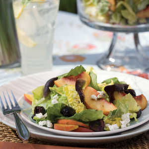Peach-and-Cherry Salad With Goat Cheese